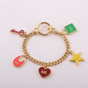 Michael Kors Enamel Glazed Star Drop Bracelet